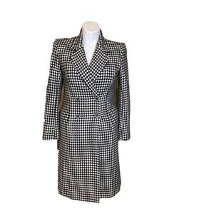 Spiegel warm coat houndstooth pattern
